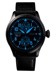 Men's Panzera Siebel Limited Edition #Watch Black/Blue Just £364.99 On accentclothing.com - http://bit.ly/1N9oOyT