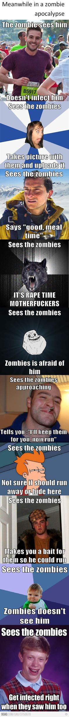 If Meme's Were In A Zombie Apocolypse xD