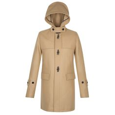 Sandro DUFFLE CAMEL Wool Duffle Coat at Sandro US