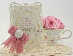 Card Making Ideas by Becca Feeken using Quietfire Design Always Kiss Me Goodnight and 2014 Spellbinders A2 Divine Eloquence