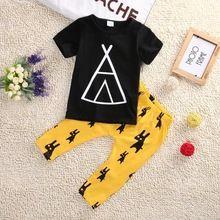2017 meninos verão conjuntos de pano do bebê menino t-shirt + calças conjunto de roupas recém-nascidos ternos do esporte do bebê terno da moda roupas menino(China (Mainland))