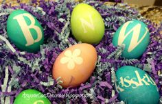 Simple to make Monogrammed Easter Eggs
