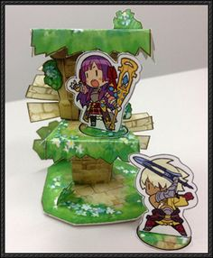 Etrian Odyssey - Yggdrasil World Tree Free Papercraft Download - http://www.papercraftsquare.com/etrian-odyssey-yggdrasil-world-tree-free-papercraft-download.html