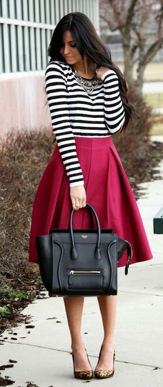 Gorgeous outfit for fall. I love the mulberry with the leopard shoes.