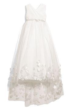 Joan Calabrese for Mon Cheri Tulle & Taffeta Floor Length Dress (Little Girls & Big Girls) available at #Nordstrom