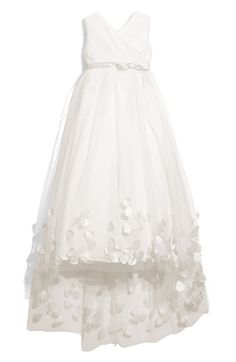 Joan Calabrese for Mon Cheri Tulle & Taffeta Floor Length Dress (Little Girls & Big Girls) available at #Nordstrom. just got this for my niece and it is breathtaking!