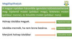 Az igemódok - Nyelvtan - Magyar nyelv 4. osztály VIDEÓ - Kalauzoló - Online tanulás