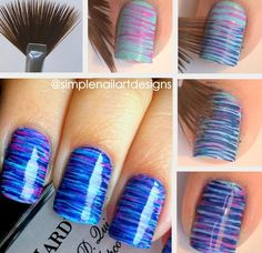 using a fan brush to make your nail designs look awesome.