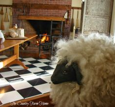 The Country Farm Home: Giving Thanks in Shaker Style  Love the sheep in the foreground