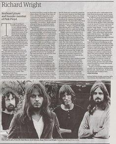 Richard Rick Wright obituary, The Guardian - Pink Floyd