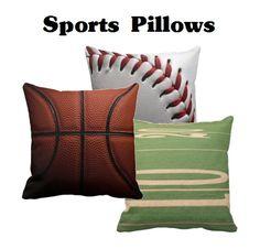 Sports Pillows - #basketball, #baseball, #football