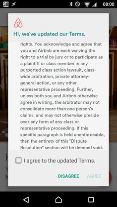 "Lavoro Bologna  #lavoro #Bologna #lavoroBologna #bakecalavoro Have ridiculous EULAs finally become aware of their own insanity? AirBnB updated terms includes waiving the right to sue them a provision so moronic it is immediately followed by ""if this is unenforceable just forget it""."