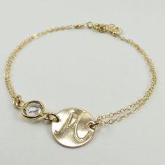 Personalized Bracelet 14kt gold filled Birthstone Bracelet