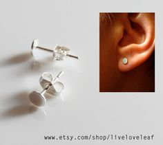 8bd33a605 Items similar to 4mm Sterling Silver flat circle studs, 0.925 SS dot post  earrings cute tiny little sequin studs, fun everyday jewelry Graduation  gift ideas ...
