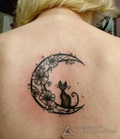 feminine+moon+and+star+tatoos | Exemplos de tatuagens de gatos
