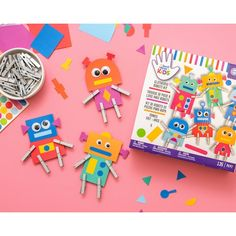 Craft Kits For Kids, Paper Crafts For Kids, Fun Crafts, Art For Kids, Arts And Crafts, Construction For Kids, Robot Kits, American Crafts, Art Pages