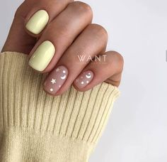The advantage of the gel is that it allows you to enjoy your French manicure for a long time. There are four different ways to make a French manicure on gel nails. The choice depends on the experience of the nail stylist… Continue Reading → Cute Acrylic Nails, Cute Nails, Pastel Nail Art, Hair And Nails, My Nails, Gold Nails, Nagellack Design, Dream Nails, Yellow Nails