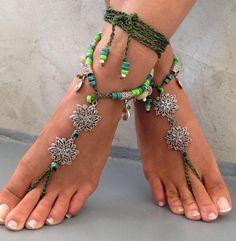 Barefoot sandals. beaded sandals, moonstone gemstones boho barefoot sandles, Gypsy Sandals , , yoga, anklet hippie shoes
