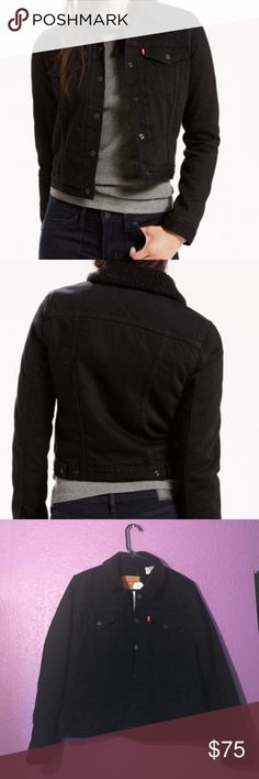 Levis Strauss Thermore Trucker Jacket New with tags black thermore jacket by Levis Levi's Jackets & Coats Jean Jackets