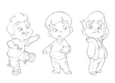 Cute little cartoon boy by Anderson Mahanski. The cutest drawings you will ever find by this guy! http://andersonmahanski.deviantart.com/gallery/