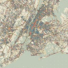 Geographies of Time (NYC, weekdays)