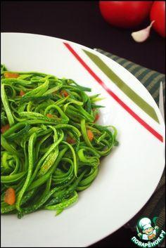 Спагетти из кабачков - кулинарный рецепт