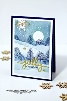 Easy snowy scenes   Video Post with Lovely As a Tree Stamp Set GDP067   Bibi Cameron Paper Craft Designer