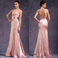 vestidos largos de noche rosa - Buscar con Google