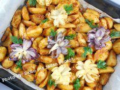 Samo još jedan recept...: Pečeni krumpir s cvjetovima od luka