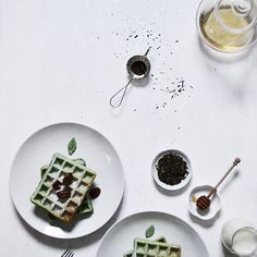 Instagram media by urbanxkoi - First homemade green tea Belgian waffles of the new year. #urbankoikitchen New official blog: urbankoi.me ✨ Entries and the recipe for this coming soon.