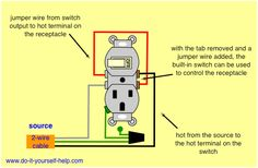 how to wire switches combination switch outlet light fixture turn Switch Plug Wiring switch combo wiring diagram