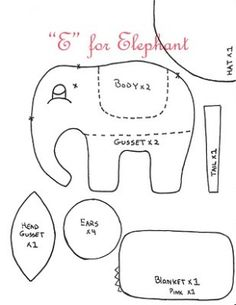 Elephant Pillow Pattern by Lindsay Herl