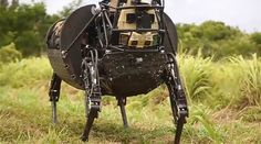 © KimballTV - Hee-Haw! DARPA's noisy robotic 'pack mule' mothballed over fears it could spill the beans... https://www.rt.com/usa/327395-darpa-mule-robot-google/
