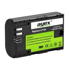 2 x ayex Li-Ion Akkus für Canon EOS 60D,70D, 7D, 6D, 5D...