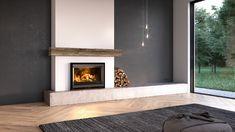 Stûv 6 - 76x55 #stuv #stûv #fireplace #woodburning #architecture #home #design Home, Wood Heater, Wood Fireplace, Inset Fireplace, Wood Insert, House Styles, Living Room Pictures, Family Room Fireplace, Fireplace Inserts