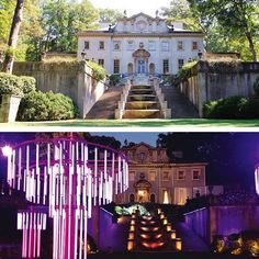 The Atlanta History Center's Swan House transformed into President Snow's palace for The Hunger Games.