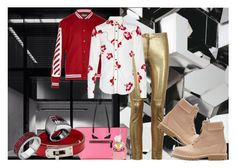 """""""Under My Bed"""" by goosegui ❤ liked on Polyvore featuring Isabel Marant, Off-White, Yves Saint Laurent, Balmain, Fendi, men's fashion and menswear"""