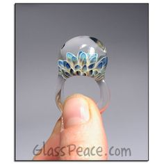 Glass Jewelry sea anemone Lampwork Glass Ring Size by GlassPeace, $36.00