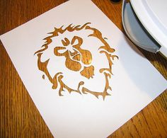 World of Warcraft Cake Stencil Awesome World of Warcraft Alliance images online