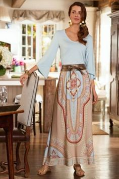 Maharani Skirt - Long Maxi Skirt, Bohemian Skirt, Colorful Print Skirt | Soft Surroundings