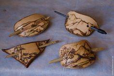 Декорируем неокрашенную кожу выжиганием — создаем заколку-рыбку - Ярмарка Мастеров - ручная работа, handmade