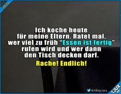 Tag der Abrechnung! #typischEltern #Rache #Essen #lustig #Sprüche #Humor #Meme