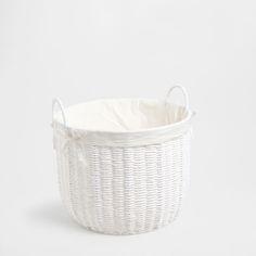 ROUND PAPER BASKET WITH HANDLES - Baskets - Bathroom | Zara Home United Kingdom