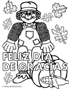Happy Thanksgiving Coloring Activity Pages
