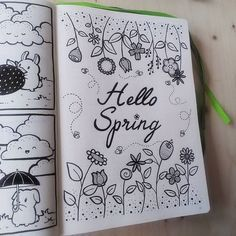 All your inspirational and beautiful spring bullet journal layouts right here! Get spring-themed trackers, monthly layouts, weekly spreads, and decoration assistance for a beautiful bujo to commemorate one of the best seasons of the year. Bullet Journal Cover Page, Bullet Journal Printables, Bullet Journal Notebook, Bullet Journal Themes, Bullet Journal Spread, Bullet Journal Layout, Bullet Journal Inspiration, Journal Ideas, Spring Drawing