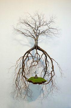 Suspended Tree Sculptures. Jorge Mayet