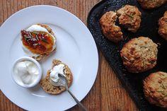 Orange and Rosemary Oatmeal Scones