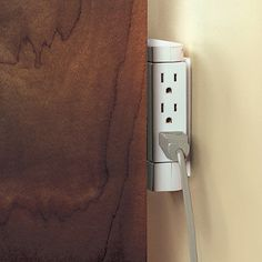 The Side Socket allows you to plug in more electrical devices to existing wall outlets and neatly tucks power cords to the side courtesy of an innovative 90 degree swiveling action to create extra space where you need it most.
