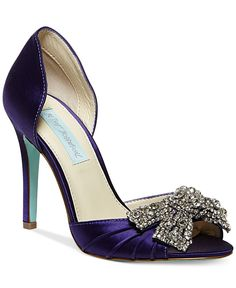 Blue by Betsey Johnson Gown Evening Pumps - also available in white!)