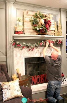 Christmas Mantel Decorating Ideas with Plaid & Glitter Christmas Mantel Decor & Magic Brush The post Christmas Mantel Decorating Ideas with Plaid & Glitter & Holidays appeared first on Yorgo. Diy Christmas Fireplace, Christmas Mantels, Diy Christmas Tree, Christmas Ideas, Christmas Villages, Christmas 2019, Christmas Ornaments, Christmas Stuff, Holiday Ideas